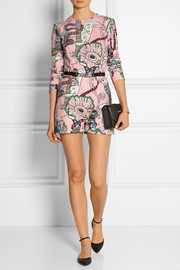Mary Katrantzou Poppies printed crepe playsuit
