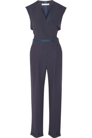Wrap-effect crepe jumpsuit