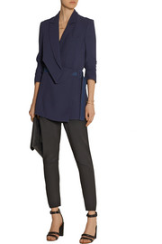Richard Nicoll Wrap-effect crepe blazer
