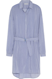 Richard Nicoll Striped cotton and silk-blend shirt dress