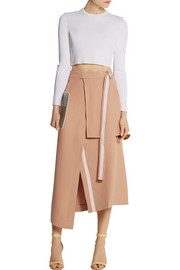 Richard Nicoll Layered crepe midi skirt