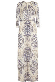 Sabrina printed stretch-silk georgette maxi dress