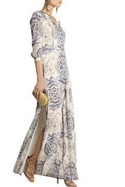 Tory Burch Sabrina printed stretch-silk georgette maxi dress