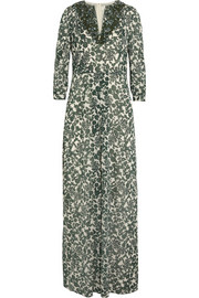 Talan printed stretch-silk georgette maxi dress