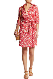 Brigitte printed cotton shirt dress