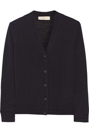 Madison stretch merino wool-blend cardigan