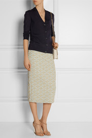 Tory Burch Madison stretch merino wool-blend cardigan