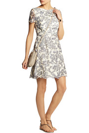 Summer guipure lace mini dress