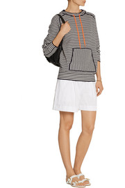 Tory Burch Geraldine hooded striped cotton-blend sweater