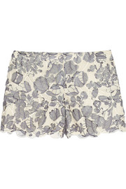 Tory Burch Kammy guipure lace shorts