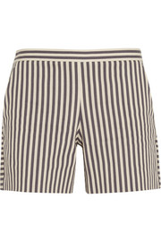 Marit striped cotton-blend shorts
