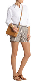 Tory Burch Marit striped cotton-blend shorts