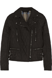 Phoenix quilted shell biker jacket