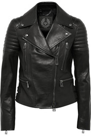 Phoenix leather biker jacket