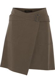 Belstaff Ryder stretch-cotton twill wrap mini skirt
