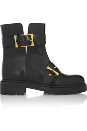 Alexander McQueen Bucked leather biker boots