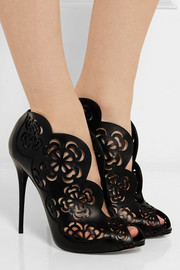 Alexander McQueen Laser-cut leather sandals