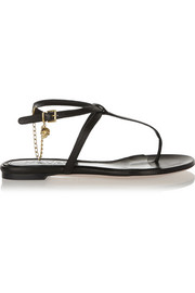 Alexander McQueen Embellished leather sandals