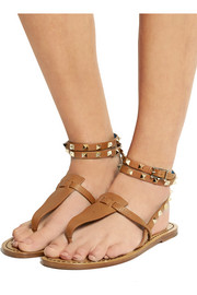 Valentino Studded two-tone leather sandals