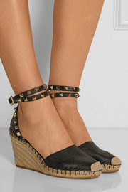 Valentino The Rockstud leather espadrilles