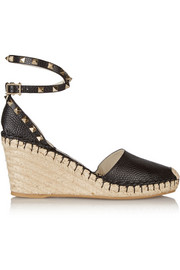 The Rockstud leather espadrilles