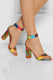 Valentino Printed leather and Plexiglas® sandals