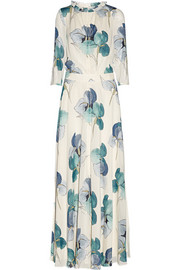 Julia floral-print stretch-silk georgette maxi dress