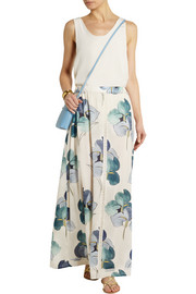 Tory Burch Kendra floral-print stretch silk-georgette maxi skirt