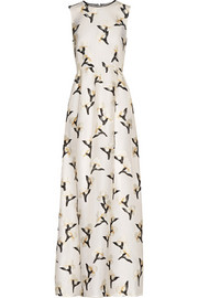 Tory Burch Taya embroidered organza maxi dress