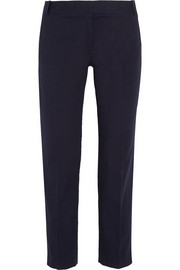 Brandy stretch-cotton faille straight-leg pants