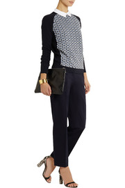 Tory Burch Brandy stretch-cotton faille straight-leg pants
