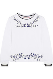 Lacey embroidered cotton top