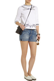 Tory Burch Lacey embroidered cotton top
