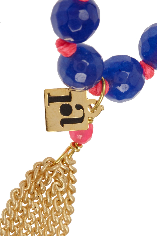 Rosantica Gold-dipped agate bracelet