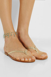 Rosantica Odalisca gold-dipped turquoise anklet