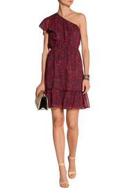 Anna Sui Printed silk-georgette dress