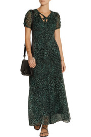 Anna Sui Printed silk-georgette maxi dress