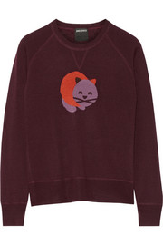 Anna Sui + James Coviello cat-intarsia wool-blend sweater