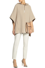 Halston Heritage Double-faced wool poncho
