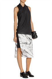 Helmut Lang Wrap-effect crepe top