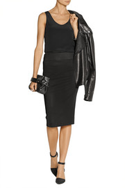 Helmut Lang Stretch-jersey pencil skirt