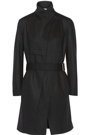 Wool-felt trench coat