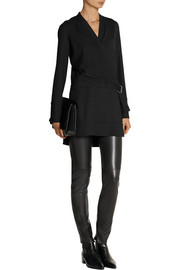 Helmut Lang Washed-crepe tunic