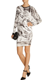 Helmut Lang Printed stretch-jersey dress