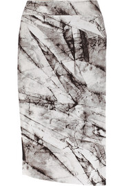 Terrene printed stretch-jersey skirt