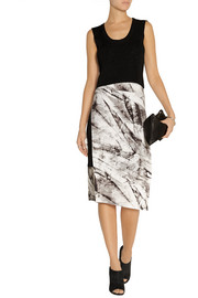 Helmut Lang Terrene printed stretch-jersey skirt