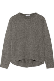 Cutout wool-blend sweater
