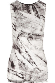 Helmut Lang Terrene printed stretch-jersey top