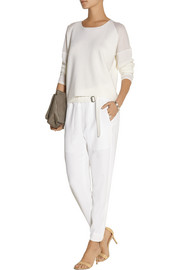 Helmut Lang Torsion stretch-cady tapered pants