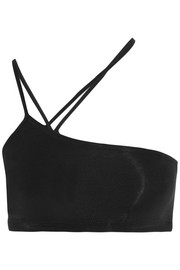 Helmut Lang Asymmetric stretch-Micro Modal bra top